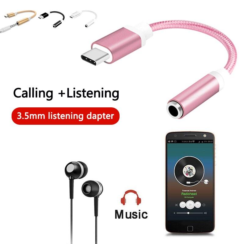Mini Usb Type C To 3.5mm Jack Female  AUX Audio Jack Cable For Huawei Xiaomi Usb Type-c To Audio 3.5mm Headphone Jack Adapter