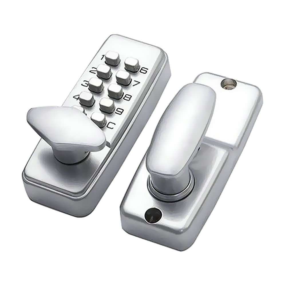 Digital Keypad Entry Code Combination Keyless Setting Lock For Door - Located On Door Knob Stylish Compact Design High Security