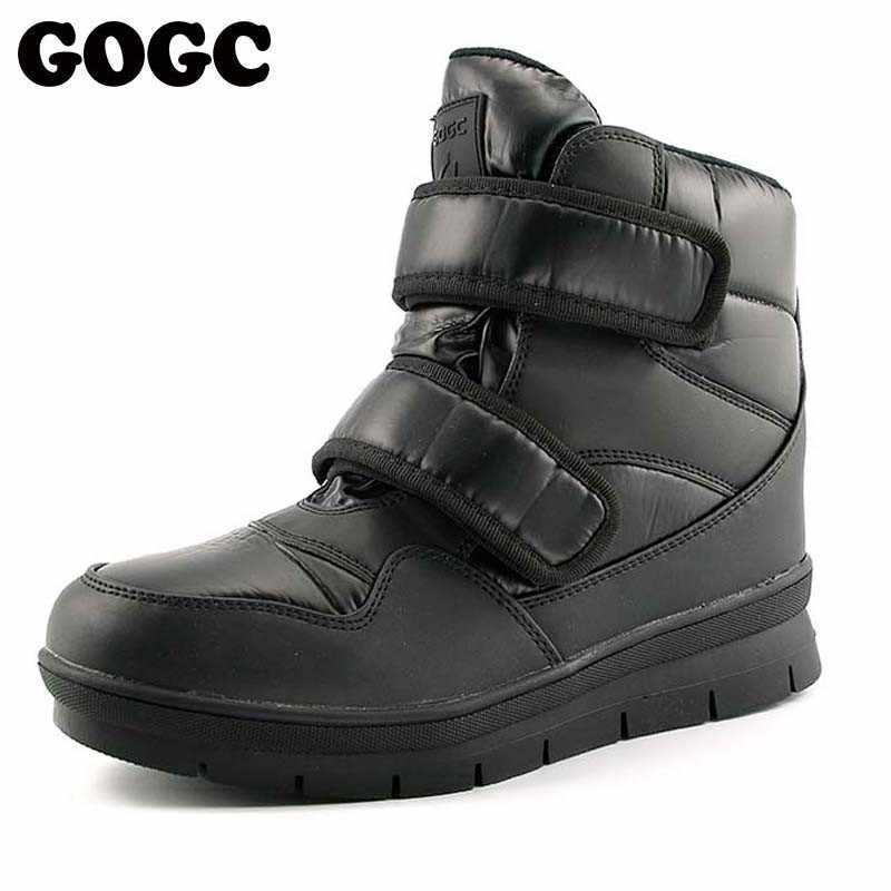 GOGC/теплые мужские зимние ботильоны; Новинка; нескользящая зимняя мужская обувь; Высококачественная Мужская обувь; зимние ботинки; 9634