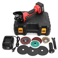 Rechargable 21V Cordless Brushless Grinder with 3.0Ah Lithium Li ion Battery 100mm Angle Grinding Cutting Machine Kit Box