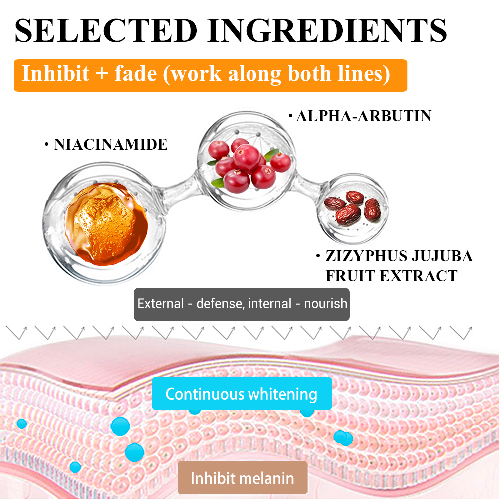 Lanbena Vitamin C Serum 40ml Whitening Facial Essence Remover Speckle Fade Dark Spots Brighten Nourishing Face Cream Skin Care