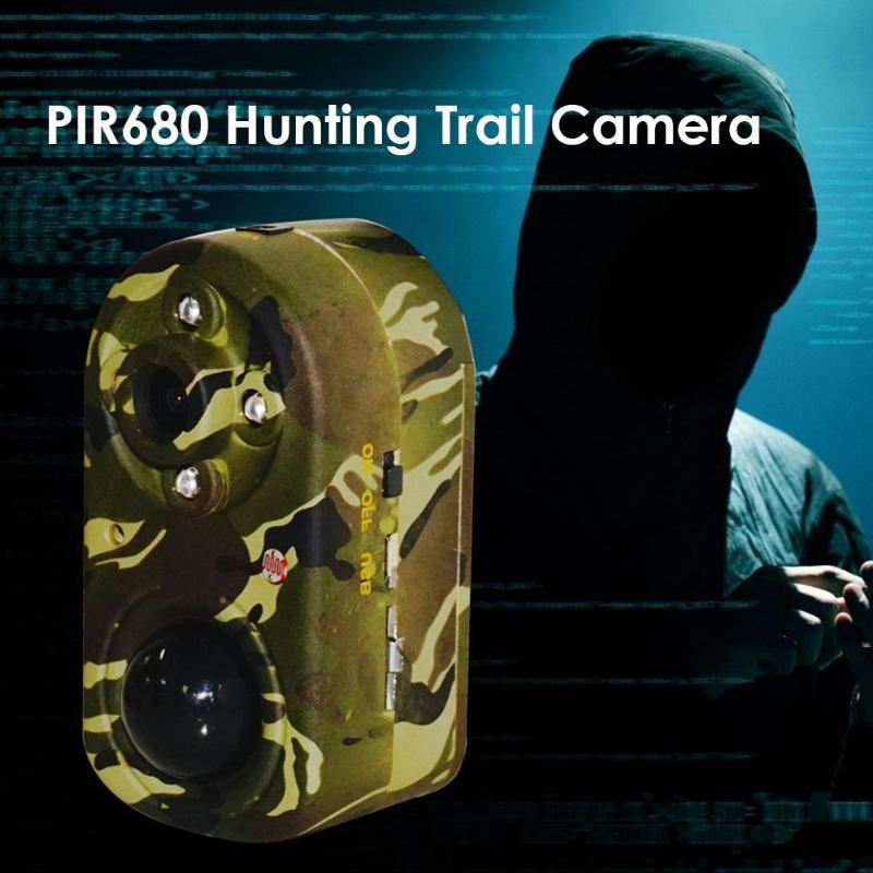PIR680 Hunting Outdoor Trail Camera Full HD 1080P 12MP PIR Infrared Night Vision Wildlife Camcorder Video RecorderPIR680 Hunting Outdoor Trail Camera Full HD 1080P 12MP PIR Infrared Night Vision Wildlife Camcorder Video Recorder