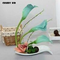Real touch High simulation flowers arts artificial Calla lily suit arrangements flores decorative bonsai ikebana