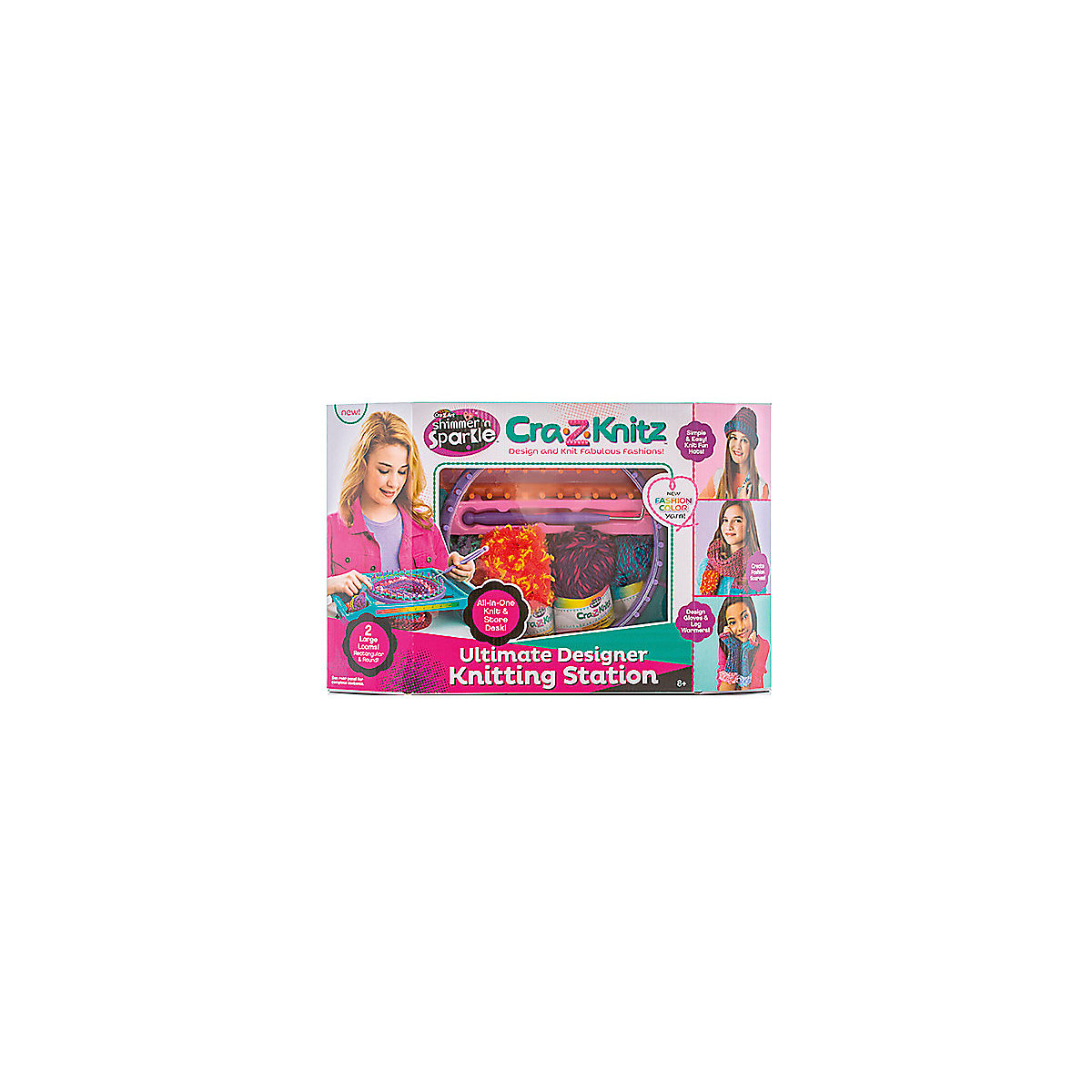 Cra-Z-Knitz Craft Toys 5103463 For Children Kits For Creativity Boy Girl Play Game Development MTpromo
