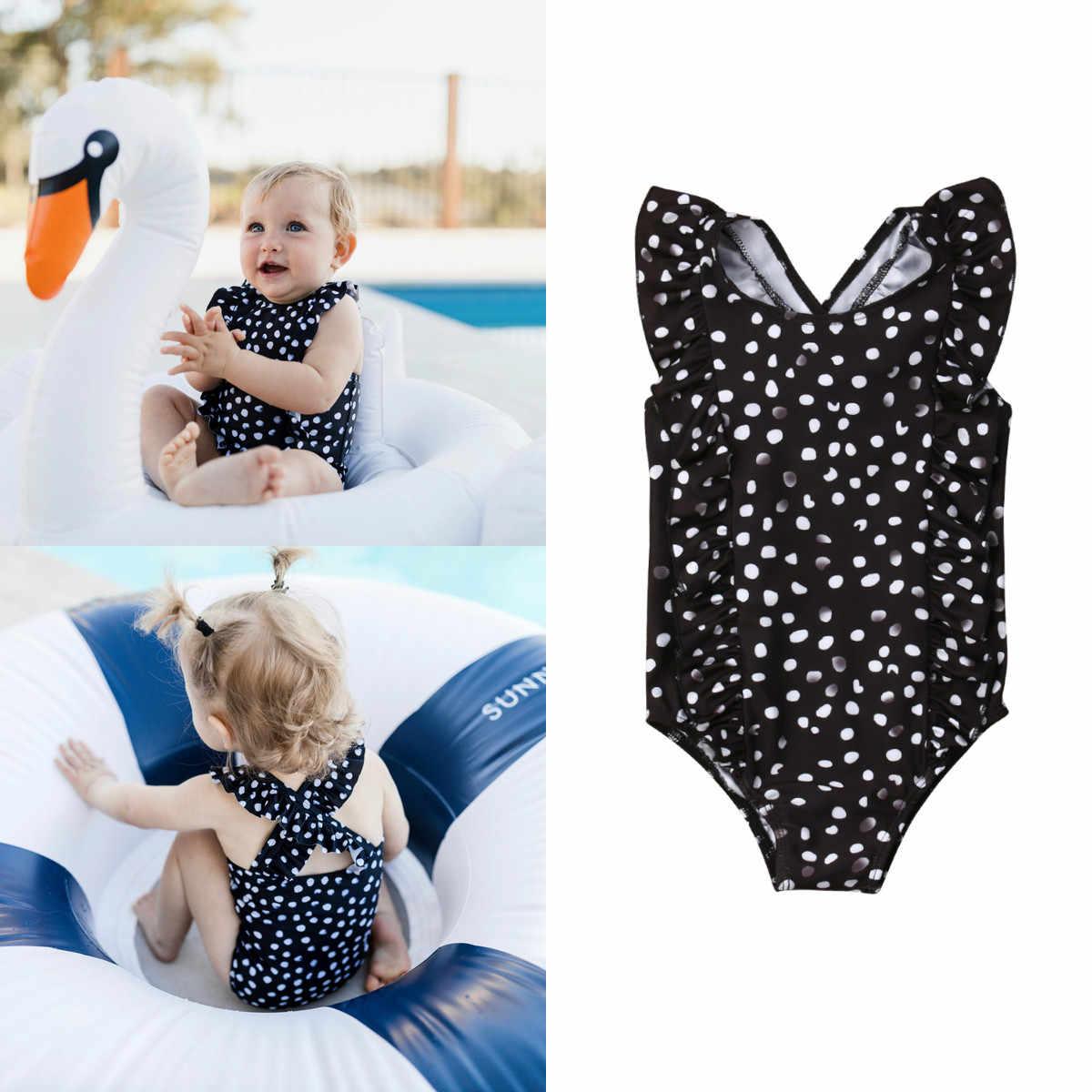 4217ebcc516 1-6Y Toddler Kids Baby Girls Ruffles Dot Swimwear Bikini Swimsuit Bathing  Suit 2019 Summer