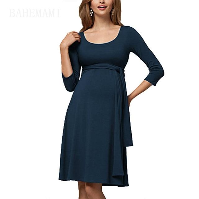 d90a54b5cb4 Vestidos Maternity Dresses Ruched 7-quarter Sleeve Bodycon Dresses Long  Breastfeeding Dress Wrap Dresses For Session