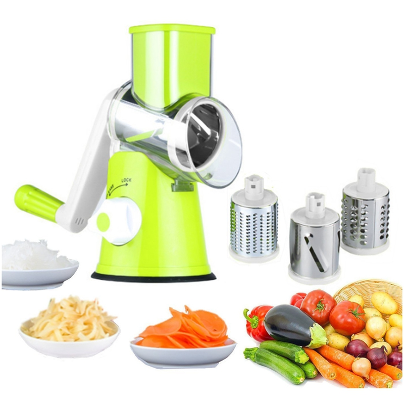 Manual Vegetable Cutter Slicer Kitchen Accessories Multifunctional Round Mandoline Slicer Potato Cheese Kitchen Gadgets
