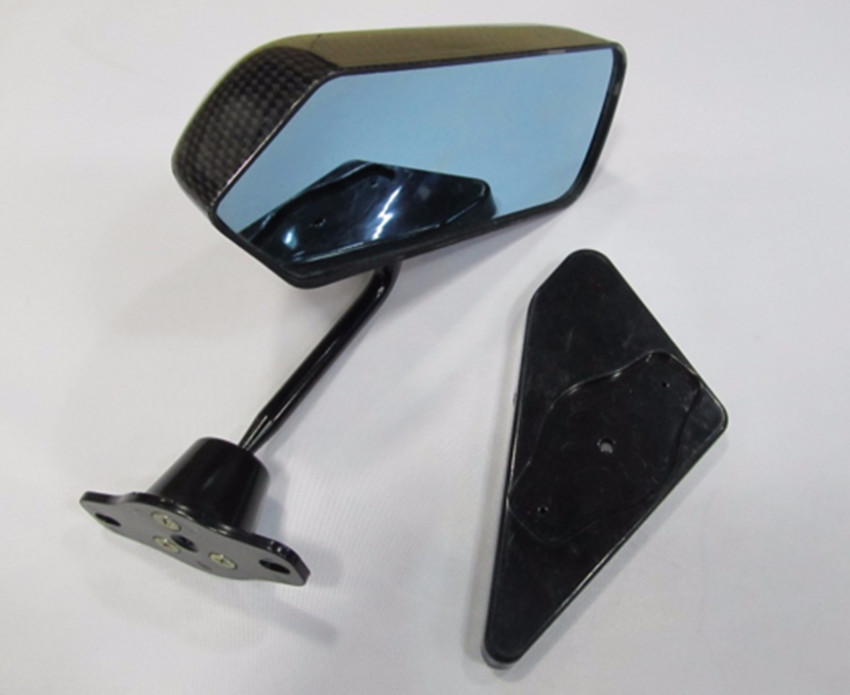 GP Carbon Fiber look Race Small Mirror Bike F1 Type Kit Side Wing Mirrors Pair Z0727 in Mirror Covers from Automobiles Motorcycles