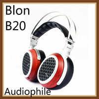 BLON Bosshifi B20 sonido de madera de alta fidelidad diafragma abierto plano Monitor de música estudio estéreo profesional Audiophile Auriculares auriculares