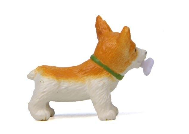 1 Pc Cute Bones Corgi Dog Action Figure Toy Cartoon Animal Model PVC Ornament Doll Toy-4