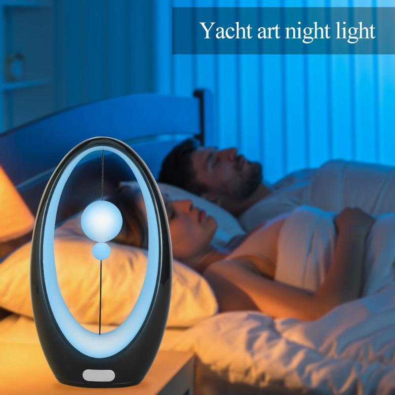 Creative 4 Color Sensor Button USB LED Lamp Night Light Home Desk Ornament Sleeping Accomapny Lamps Night Lighting