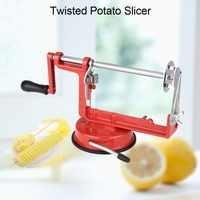 Manual Spiral Potato Cutter Slicer Cucumber Tornado Twister Cutter Vegetable Fruit Chips Making Tool Potato slicer Supply