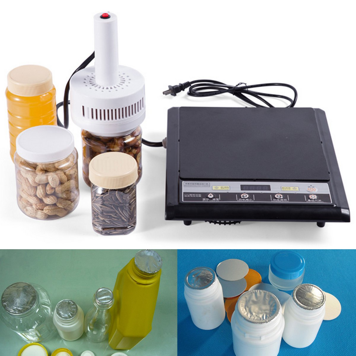 1200w 20-100mm Max Electromagnetic Induction Portable Handheld Induction Medical Plastic Bottle Cap Sealer Sealing Machine