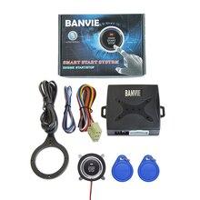 BANVIE Smart Rfid Car Alarm System Push Engine Start Stop Button Transponder Immobilizer Keyless Go Fits For 12v Cars Carsmate