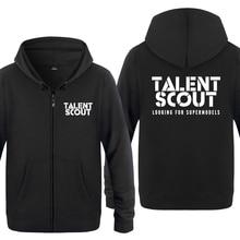 TALENT SCOUT Creative Letter Sweatshirts Men 2018 Mens Zipper Hooded Fleece  Hoodies Cardigans(China) 2e7befe7f