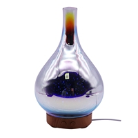 Glass Aromatherapy Humidifier Essential 100Ml Oil Diffuser Ultrasonic Humidifier 3D Aromatic Night Light Aroma Essential Oil W