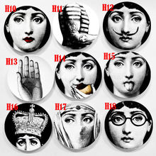8 Inch Fornasetti Plates Home Decoration Christmas Decoration Dinner Plate Decorative Wall Dishes China Wall Plates