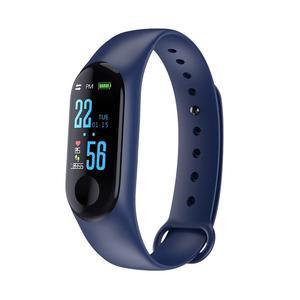 Image 5 - M3 شاشة ملونة سوار ذكي جهاز تعقب للياقة البدنية خطوة عداد معدل ضربات القلب ضغط الدم معلومات تذكير مقاوم للماء الرياضة