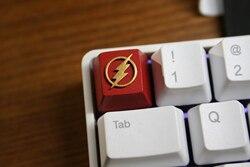 1pc żywica ręcznie robione klucz na zamówienie czapka 3D stereoskopowe klawiatura mechaniczna Keycap dla DC Superhero The Flash