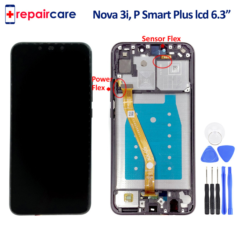 Pour Huawei Nova 3i Écran LCD avec Cadre Affichage Tactile Digitizer INE-LX2 D'origine 6.3 Pour Huawei P Smart Plus affichage Outil Gratuit