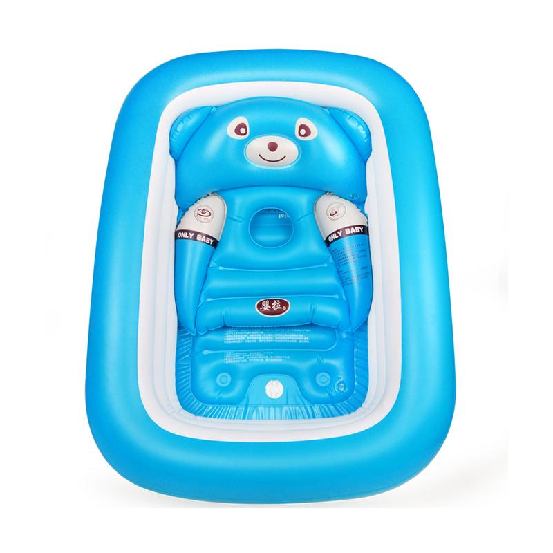 Baignoire bébé nouveau-né bébé baignoire gonflable pliable grande piscine de bain épaissie pataugeoire pour s'asseoir et couché - 3