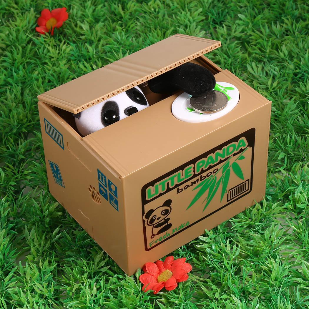 Electric Novelty Stealing Coin Saving Storage Box 1 Pig Bank Birthday 2 1.5V AA Batteries (Not Included) Gift