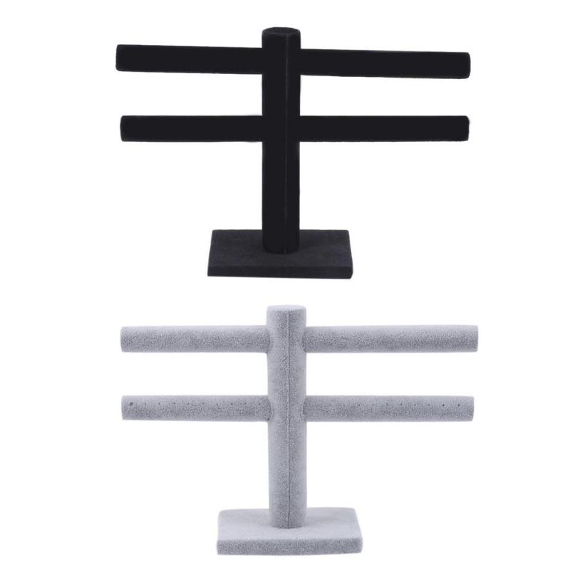 Fashion Double Layer Jewelry Stand Bracelet Chain Jewelry Display Holder