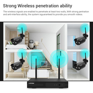 Image 2 - H.VIEW 1080P Wifi CCTV Camera Security System Kit Wireless Video Surveillance with Recording Wireless CCTV System 1080P 2MP Kit