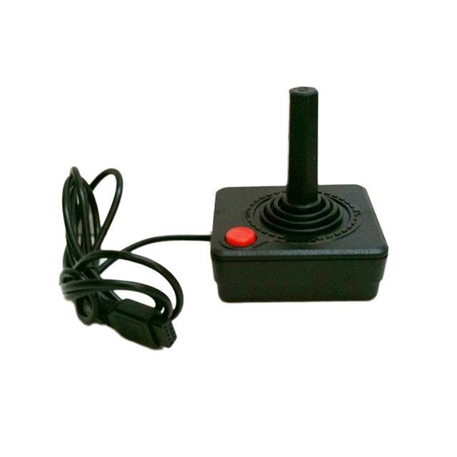 프리미엄 조이스틱 컨트롤러 핸드 헬드 게임 atari 2600 레트로 4 웨이 레버 및 싱글 액션 버튼 용 휴대용 비디오 게임 콘솔
