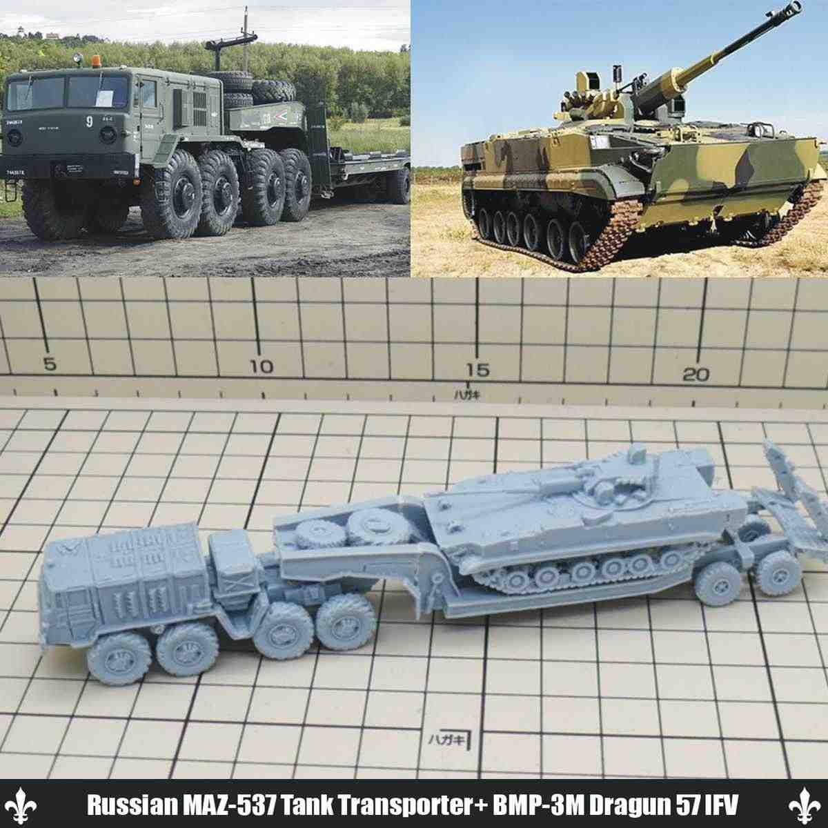 1/144 DIY Military Model Kits WWII Russian Vehicles Car Auto Tank Series  Sand Table Model Figurines 3D Toys Collection Kids Gift