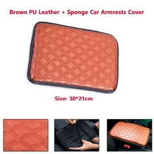 Car Armrest Pad Cover Center Console Dust-proof PU Leather Cushion Mat Universal pu leather car suv center box armrest cushion console soft pad cushion cover mat memory foam rest pillow armrest supports