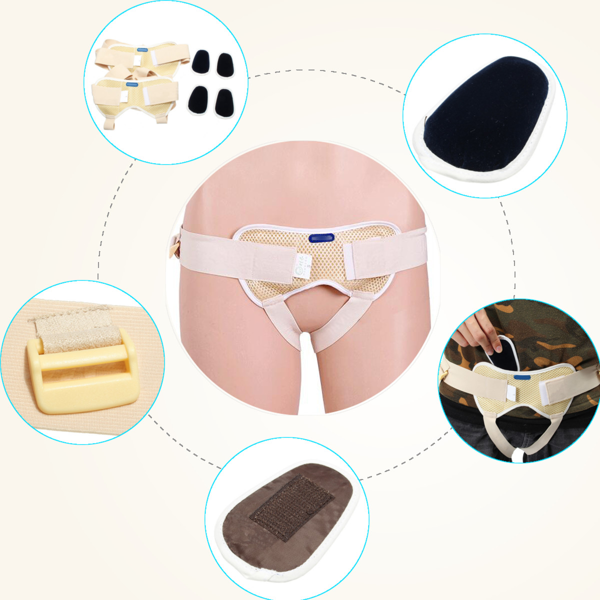 Adjustable Hernia Belt Inguinal Hernia Support Surgery Treatment With Medicine Bag Men Women Old Supports Cotton Health Care New