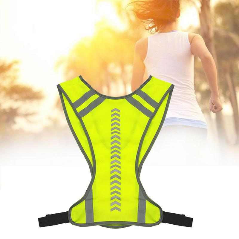 Yellow Outdoor Night Riding Running Reflective Visibility Sport Hen Party Safety Jacket Vest