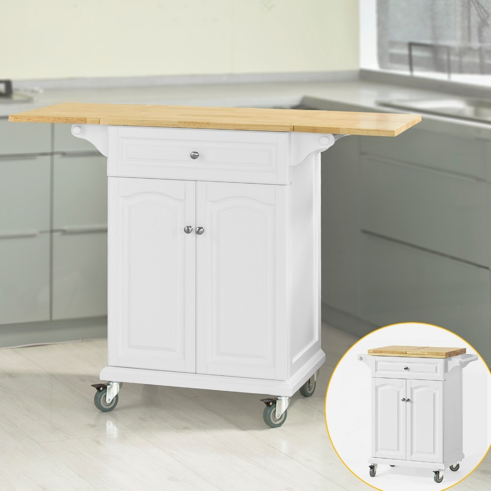 SoBuy Kitchen Trolley with Extendable Worktop Storage ...