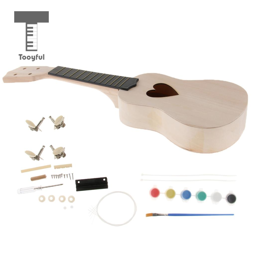Sports & Entertainment Tooyful 21 Inch Ukulele Diy Assembly Body Neck Fingerboard For Girlfriend Gift Skilful Manufacture Stringed Instruments