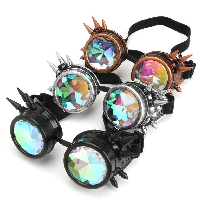 Мужские солнцезащитные очки в стиле стимпанк, Женский калейдоскоп, мужские калейдоскопические очки, праздничные голографические очки в ст...