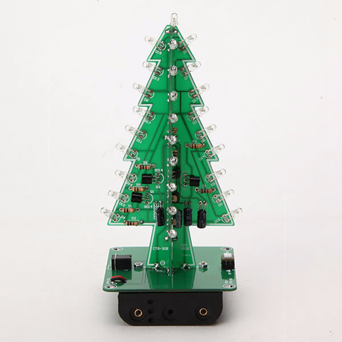 Useful 1set Tree Led Flash Kit 3d Diy Electronic Learning Kit Three-color Light / Colorful Light El Products Active Components Easy To Repair