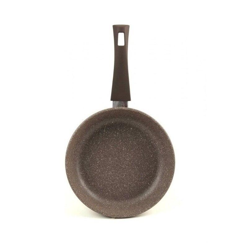 Сковорода VARI, PIETRA, 24 см, теплый гранит