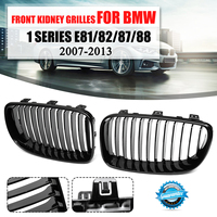 Pair ABS Gloss Black Front Racing Kidney Grille Grill For BMW 1 SERIES E81 E82 E87 E88 2007 2008 2009 2010 2011 2012 2013