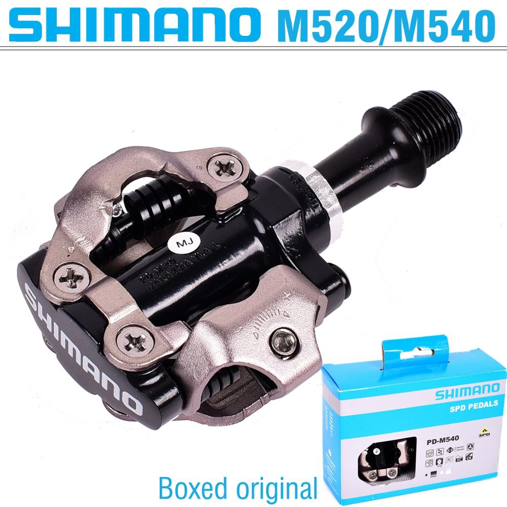 Shimano PD-M520 PD-M540 Auto-Verrouillage Clipless SPD pédale de vélo M520 VTT vélo de montagne Padals Avec D'origine PD22 Crampons