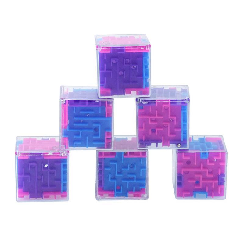3D Cube Puzzle Maze Toy Kids Educational Decompression Capsule Toys