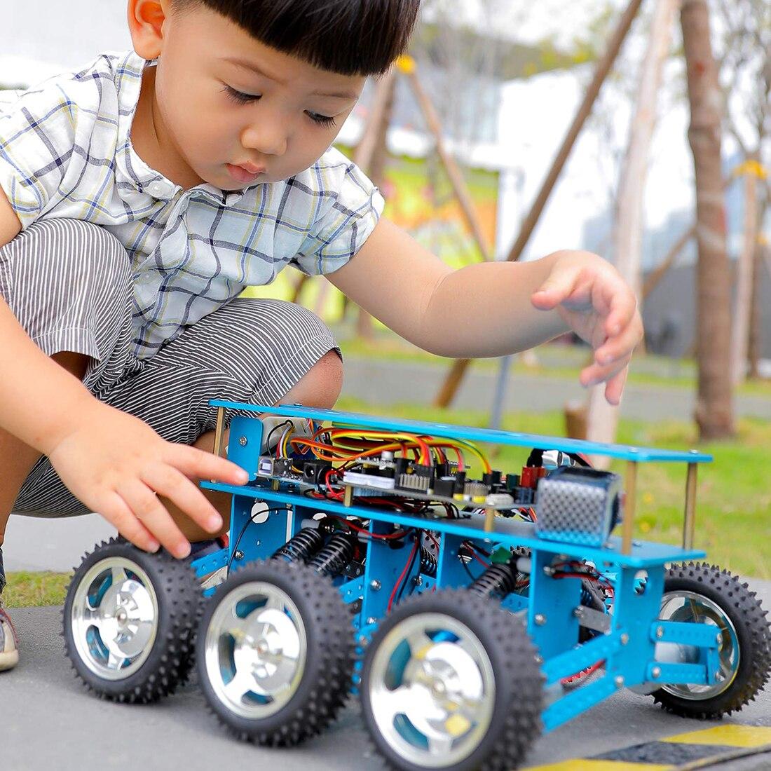 Criativo 6WD Off-Road Carro Robô Com Câmera Para Arduino UNO Kit DIY Robô Para A Programação Inteligente Educação E aprendizagem