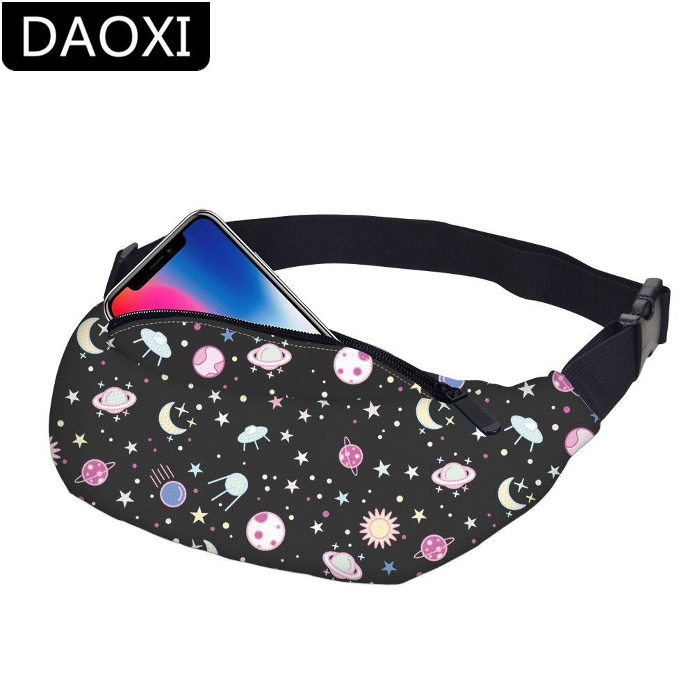 DAOXI Space Mens Fanny Pack Waterproof Waist Pack Men Hip Bum Bag Belt Bag Women Dropshipping YB-37