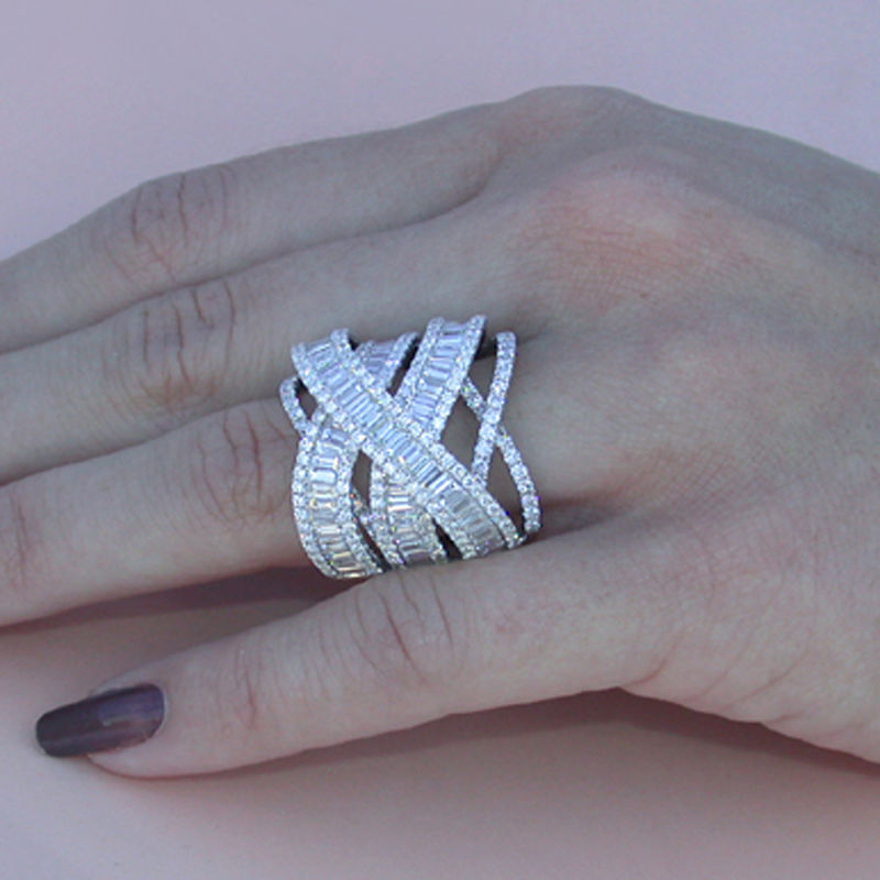 18K Gold Diamond Anillos De Ring For Women Men Engagement Bague Bizuteria Vintage Wedding Diamond Rings White Topaz Fine Jewelry