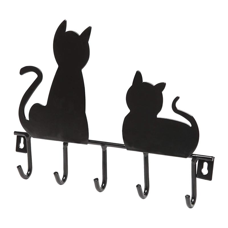 1PC Lovely Cartoon Practical Decorative Cat Design Wall Hooks Key Holder Wall Hanger Home Decor Coat Hanger