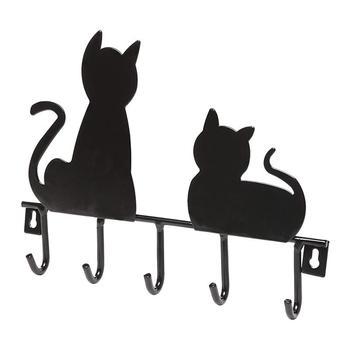 1PC Lovely Cartoon Practical Decorative Cat Design Wall Hooks Key Holder Wall Hanger Home Decor Coat Hanger
