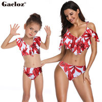 Gacloz Mother Daughter Swimwear Family look Mommy and Me Bikini Swimsuit Brachwear Family Matching Clothes Mom Daughter Clothes