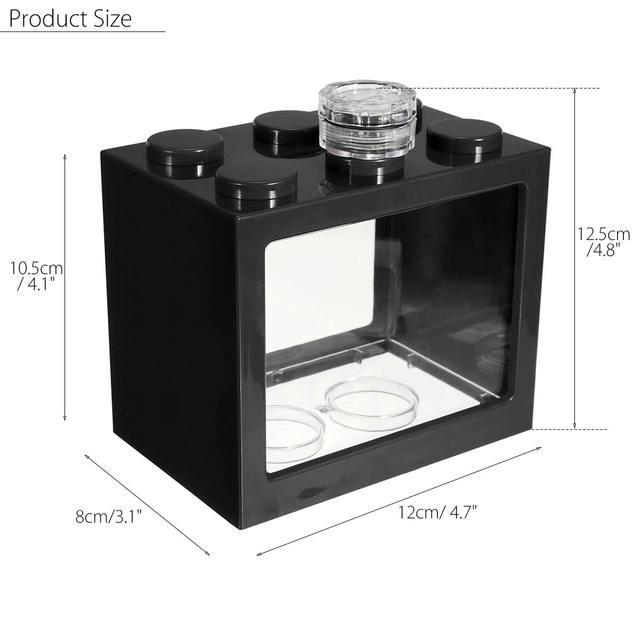 Mini Aquarium Fish Tank LED Light Lamp Betta Box Feed Desk Home Decor Baby Fish Breed Fish Isolation Box 4