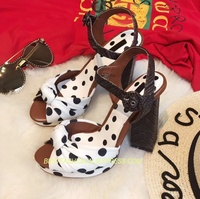 New Spring Summer Shoes Woman Sweet Sandals high Square Heels Peep Toe Platform Sandals Designer Woman Party Sandals Tide