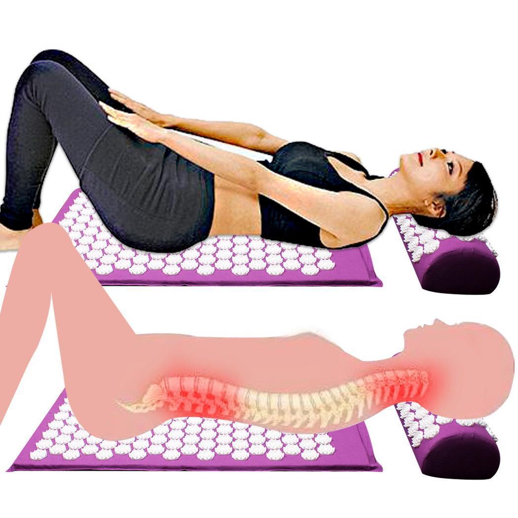 ①  67 х 42 х 2 5 см йога массажная подушка точечный массаж облегчить боль в спине массажный коврик для  ①